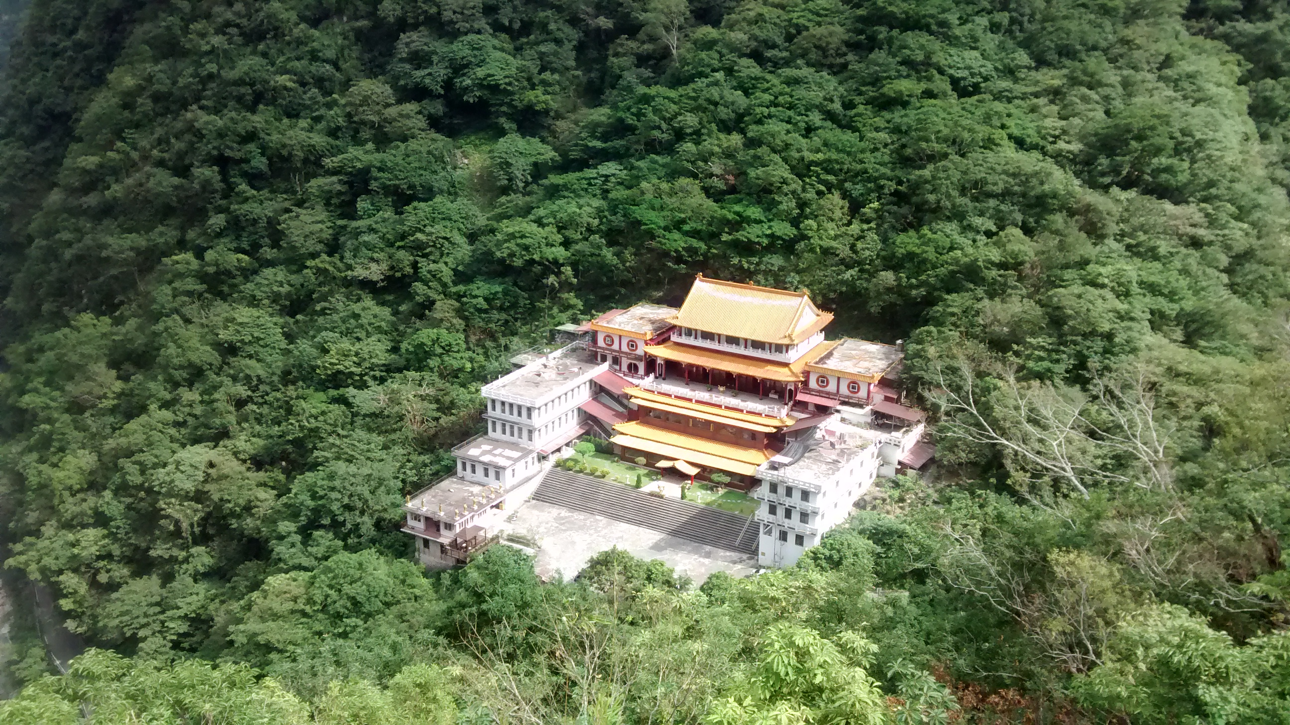 Above a Buddhist Temple at Taroko Gorge